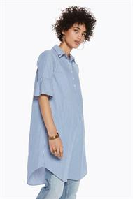 145027 t-shirt dress ruffels