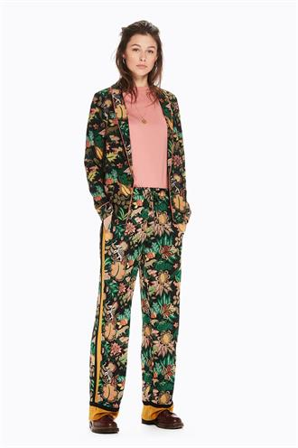 146295 jungle print blazer dun