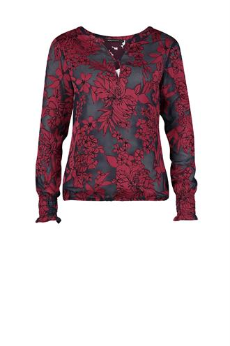 183koos burn out flower blouse