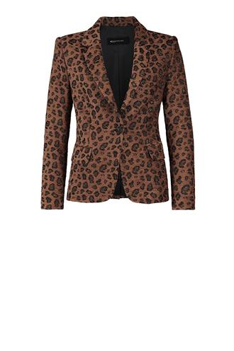 184minke animal print blazer