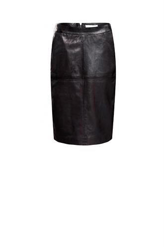 6s1066-10677c leather skirt