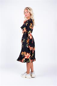 7170 river flower ruffle dress
