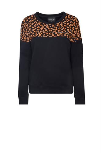 7186 leopard block sweater