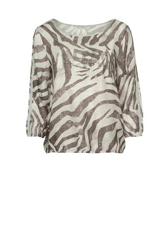 803168 blouse top zebra print