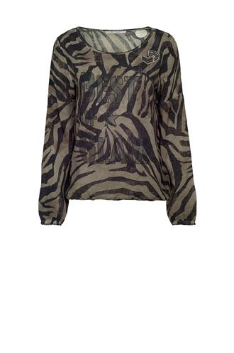 803477 blouse top animal print
