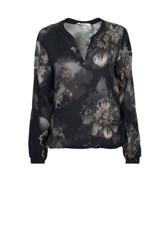 804425 flower print blouse