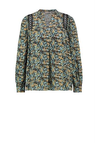 Aaiko amira print blouse leaves