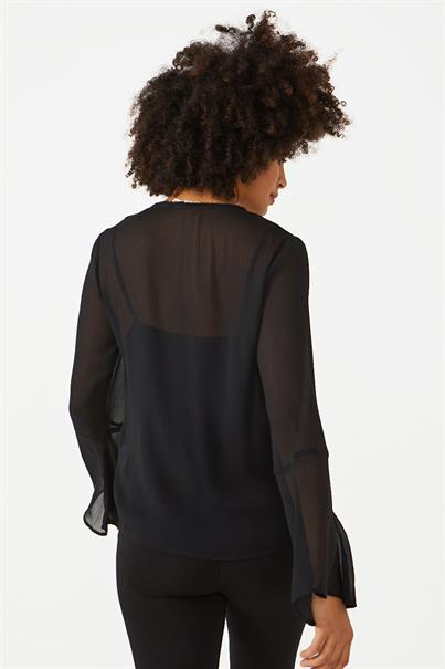 Aaiko cassie blouse studs flare mouw