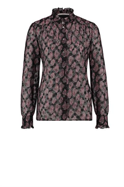 Aaiko catalin print top pink leaves