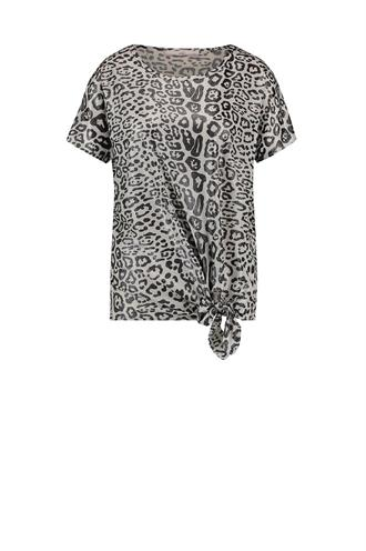 Alyna leopard t-shirt knoop