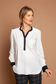 Annemarie contrast blouse