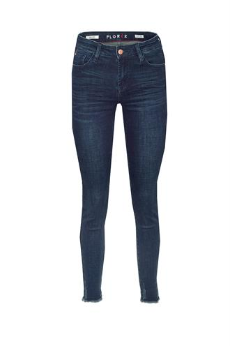 Bobbi slim fit raw edge jeans