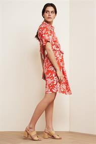 Boyfriend dress crazy coral