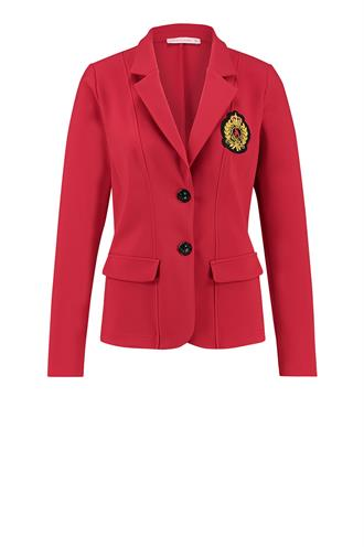 Bright bonded badge blazer