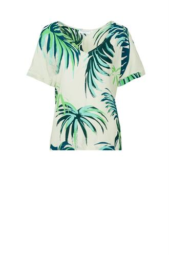Carrie top tropical leaf print