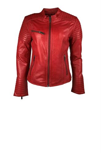 Chenna biker real leather