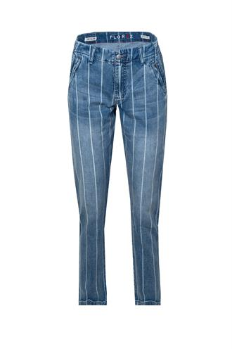 Chino striped jeans