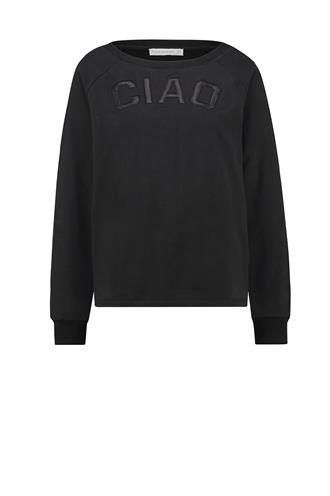 Ciao sweater fake leather logo