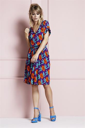 Daisy dress papaya print