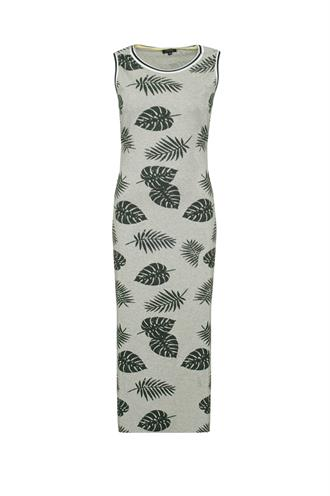 Del mar dress leaf print