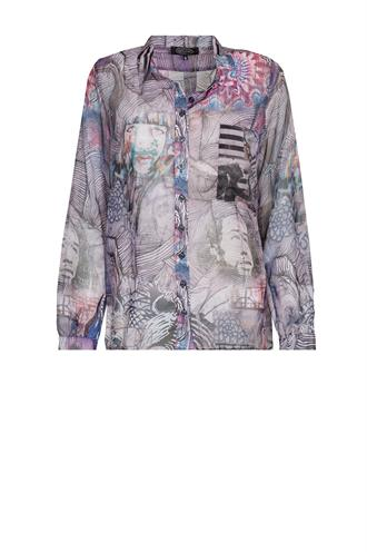Dividere graffiti mix voile blouse