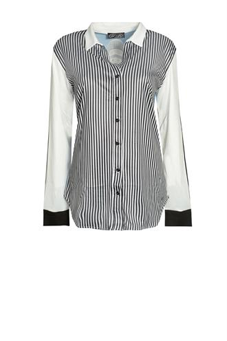 Dividere madrid stripe print blouse