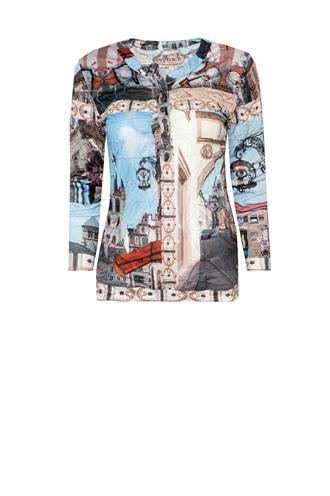 Dividere trier city crush print shirt