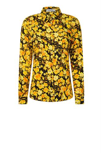 Dylan dark flower print blouse