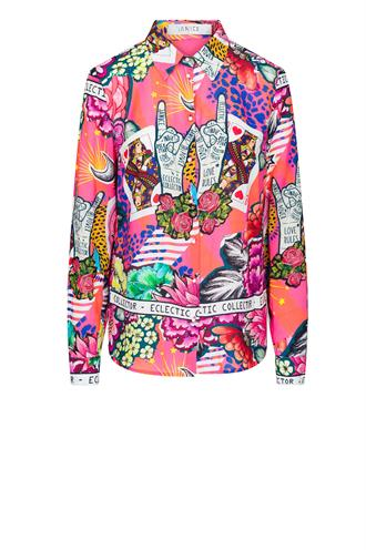 Dylan electric rever blouse