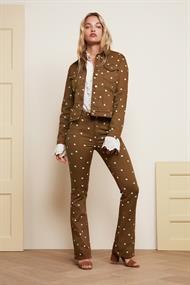 Eva flare trousers dotty print