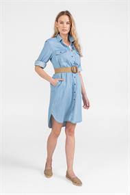 Expresso Fashion 202eldora jurk denim tencel