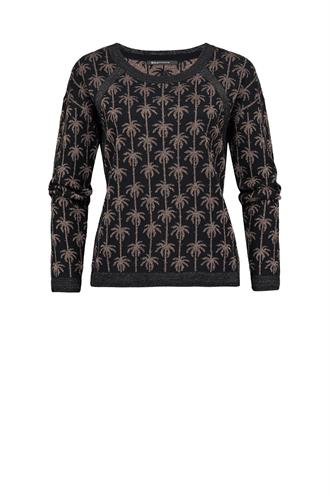 Expresso Puka pullover jaquard lurex