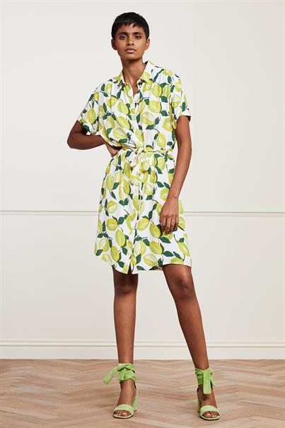 Fabienne Chapot boyfriend tess dress lime