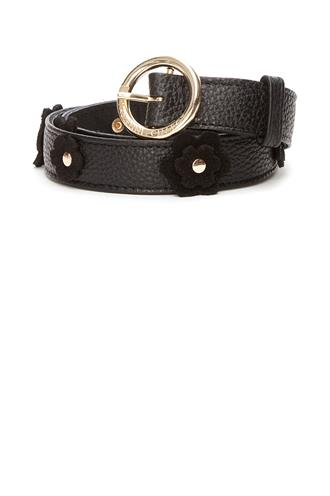 Fabienne Chapot flower belt real leather