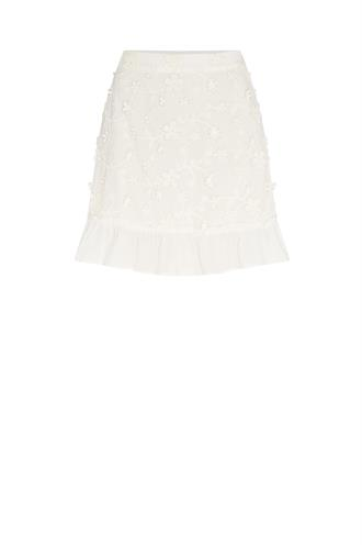 Fabienne Chapot flower frill skirt borduur