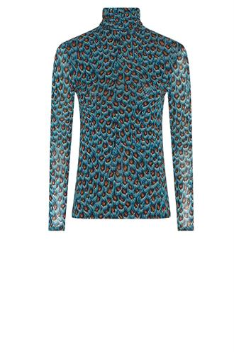 Fabienne Chapot jane mesh top peacock