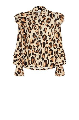 Fabienne Chapot leo frill blouse panther love