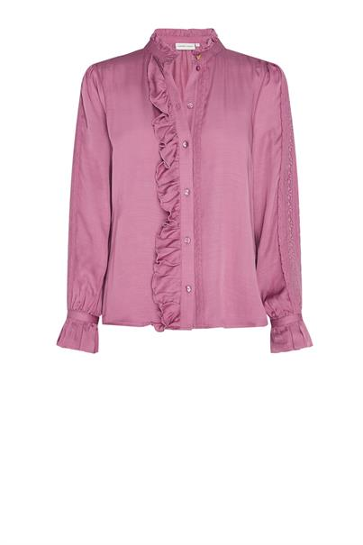 Fabienne Chapot mimi blouse dirty pink borduur