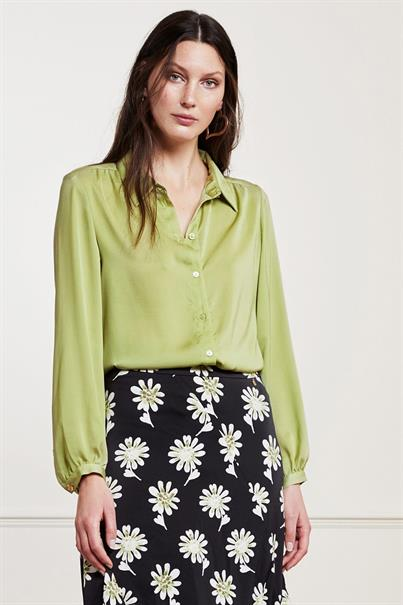 Fabienne Chapot mira solid blouse fake silk