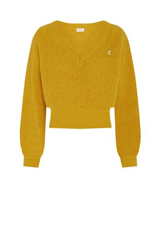 Fabienne Chapot starry v-neck pullover cropped