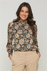 Fayah print blouse top lurex