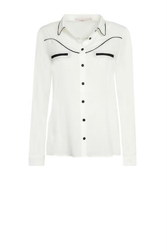 Finou colourblock blouse crepe