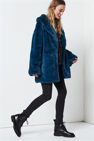 Fiona smooth fake fur coat