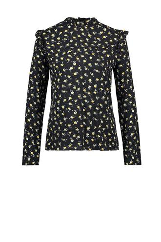 France flower print blouse