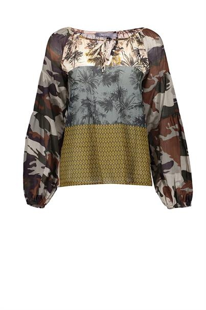 Geisha 13225-20 blouse top camouflage