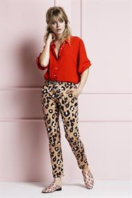 Gina blouse red 3/4 mouw
