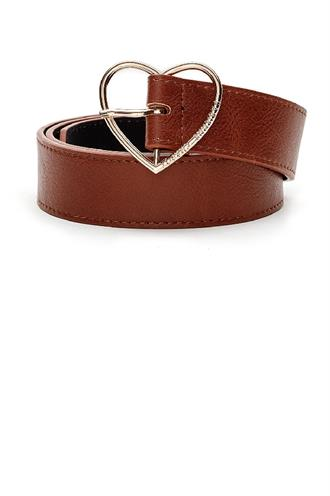 Heart belt real leather