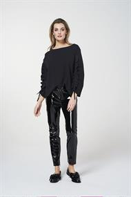 Jinte tricot top ophaal mouw