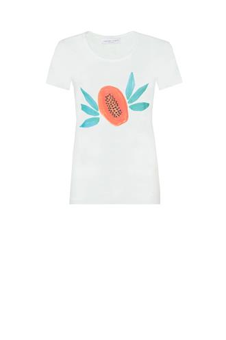 Joanne logo t-shirt papaya