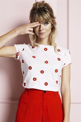 Joanne t-shirt red flower